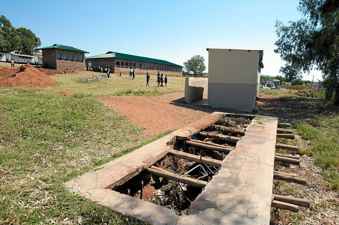 Pit toilets in the Eastern Cape