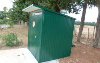 Ecosan toilet installation in France