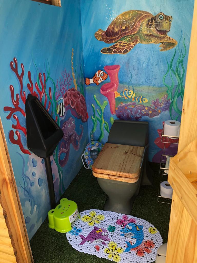 Ecosan toilet at swimschool