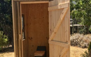 Ecosan toilet installed into a basic shed