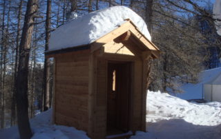 Ecosan toilet in the snow