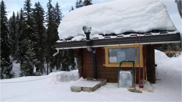 Ecosan installed in the snow