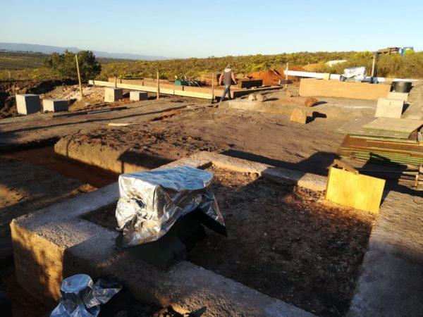 Ecosan toilet on site