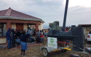 Ecosan toilet in the Eastern Cape